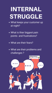 template: Important questions to know the internal customer struggle that will help in pharma target marketing
