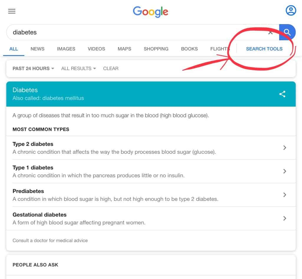 Demonstrating an example of a pharma marketing tool -Google search tool