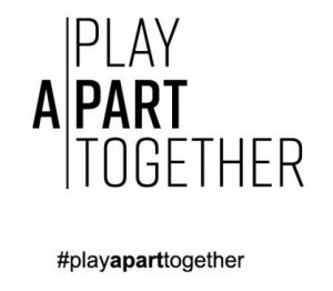 WHO's Play apart together logo