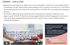 RCAID's COVID-19 daily news update
