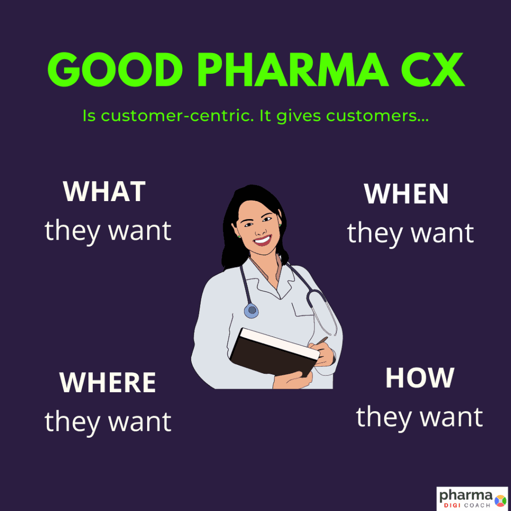 Customer focus in pharmaceutical industry. What is a good pharma customer experience